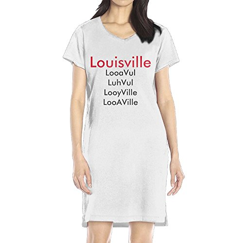 Richard Women's Louisville pronunciation Leisure White Short Sleeve V-Neck Dress - Louisville Shops Dress