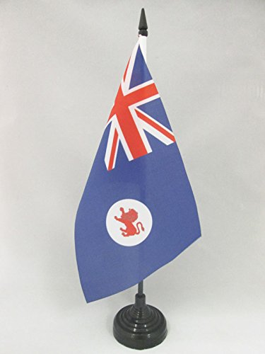 AZ FLAG Tasmania Table Flag 5'' x 8'' - Australia - Tasmanian Desk Flag 21 x 14 cm - Black Plastic Stick and Base (Outdoor Cheap Furniture Australia)