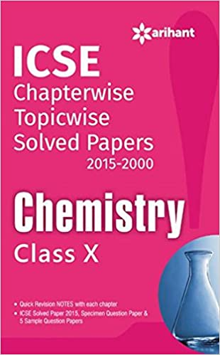Buy ICSE Chapterwise Solved Papers 2015-2000 Chemistry class 10 (Old