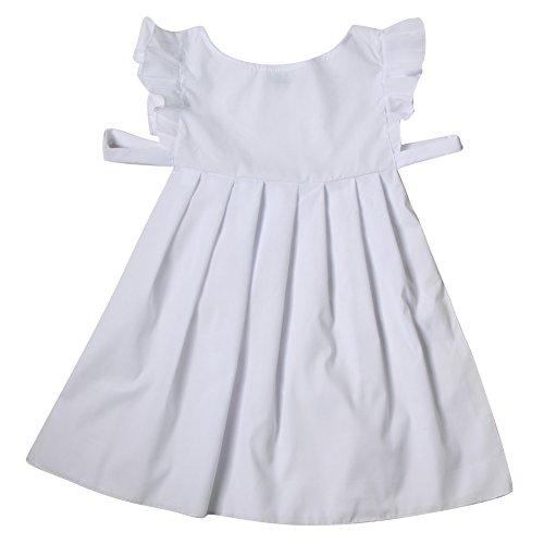 Girls White Cotton Pinafore Costume - Pioneer, Pilgrim, Peasant