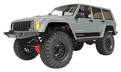 Axial SCX10 II Jeep Cherokee 4WD RC Rock Crawler Off-Road 4x4 Electric Ready to Run with 2.4GHz Radio and Waterproof ESC, 1/10 Scale RTR