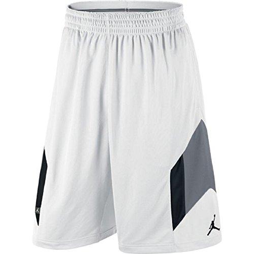 Nike Air Jordan Men's Rise 3 Basketball Shorts 612853 Size XL White 100