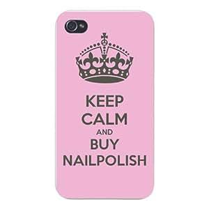 Apple Iphone Custom Case 6 4.7 White Plastic Snap on - Keep Calm and Buy Nailpolish