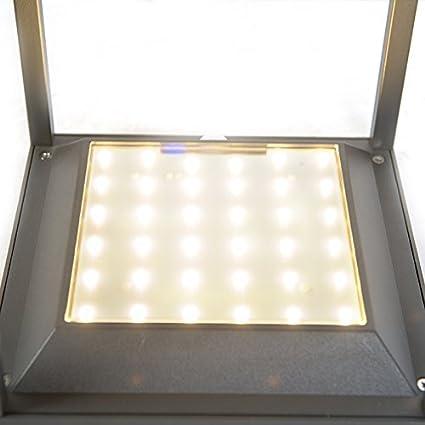 QAZQA Modern Moderne Außenleuchte Sockelleuchte dunkelgrau Solar Dämmerungs...
