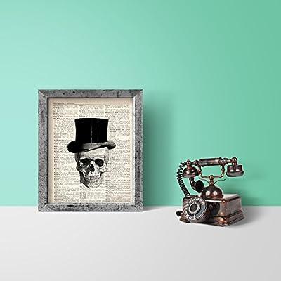 Sugar Skull Love Upcycled Vintage Dictionary Art Print 8x10