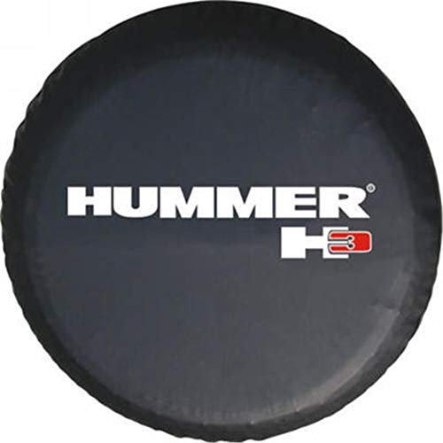 (Black Spare Tire Cover PVC Leather WaterProof Dust-Proof Universal Spare Wheel Tire Cover Fit For Hummer H3 15