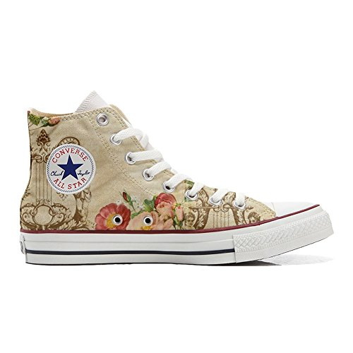 handicraft Converse printed Vintage style hand product Women's shoes Italian Floral qqnv1Yr