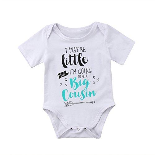Guogo Newborn Baby Boys Girls Bodysuit I May Be Little But I