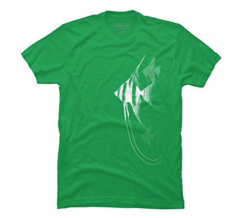 Green Angel Fish (Angelfish Men's Small Kelly Green Graphic T Shirt - Design By Humans)