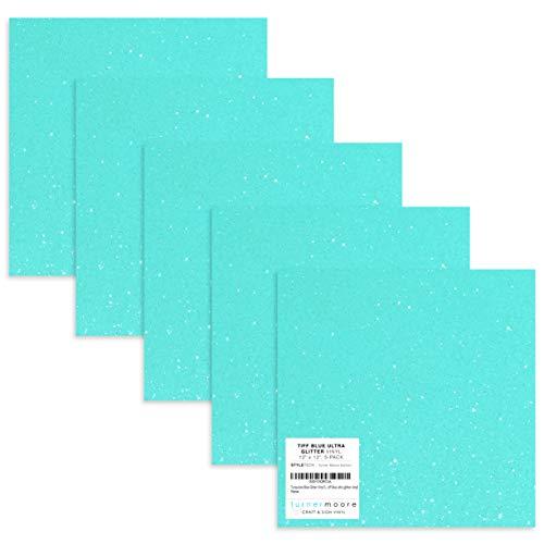 - Tiff Blue Glitter Vinyl, 12