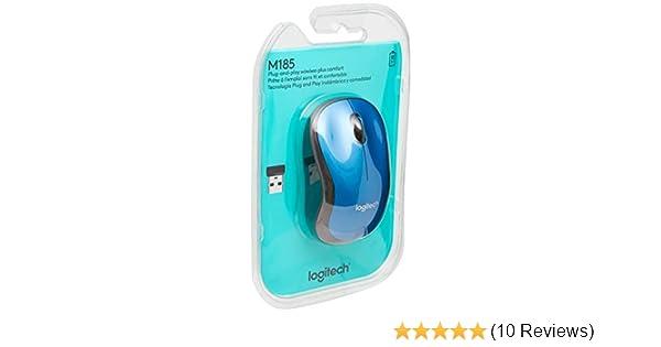 4e3716a4286 Amazon.com: Logitech M185 Wireless Mouse (910-003636): Computers &  Accessories