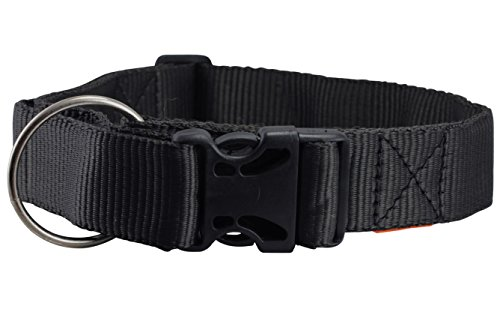 Wide Nylon Dog Collar (Heavy Duty Adjustable Nylon Dog Collar 1.5