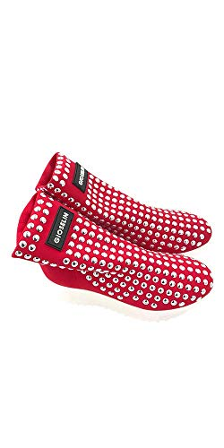 Studs Rosso Scarpa Donna Sneakers Gioselin Borchie Flat np78nxW
