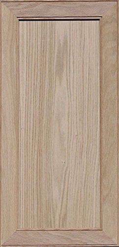 Unfinished Oak Mitered Flat Panel Cabinet Door by Kendor, 29H x 14W (Flat Panel Cabinet Doors)