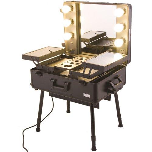 Black Pro Studio Aluminum Professional Makeup Artist