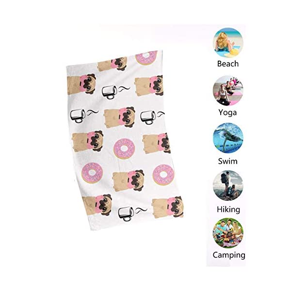 "NiYoung Beach Towel Large Beach Blanket Towel Ultra Soft Super Water Absorbent Multi-Purpose 32"" x 51"", English Springer Spaniel and Retro Floral 5"
