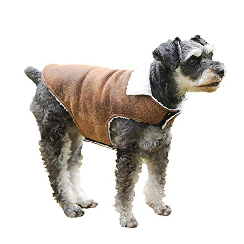 lesotc Dog Jacket,Dog Winter Jacket Dog Coat,Dog Winter Clothes for Small to Medium Dogs with Foldable Collar