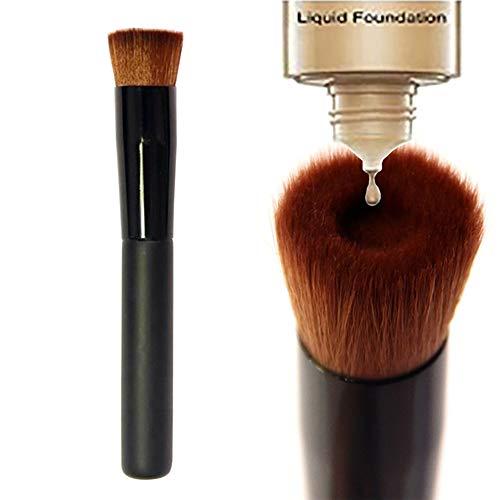 1PC Concave Makeup Brush Liquid Foundation Brushes Large Face Brush Liquid Cream Blending Tool Cosmetic Applicator For Full Coverage(Black)
