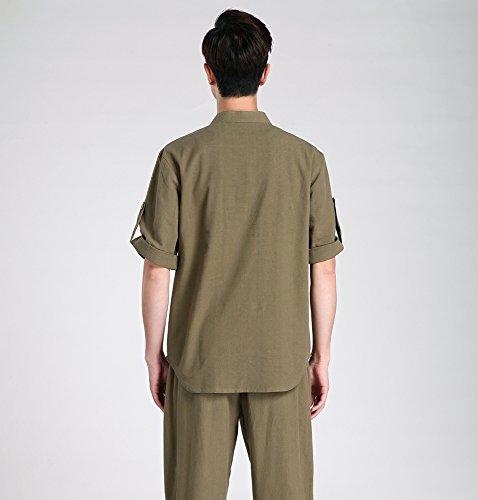 Acvip uomo Camicia casual marrone da 7YYXwpFTnq
