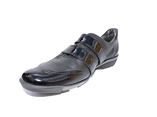 Aquatalia by Marvin K. Kayya Black Leather & Patent Leather Fashion Sneakers,Walking Shoes, Flats,Designer $395 Shoes, Size 7 M