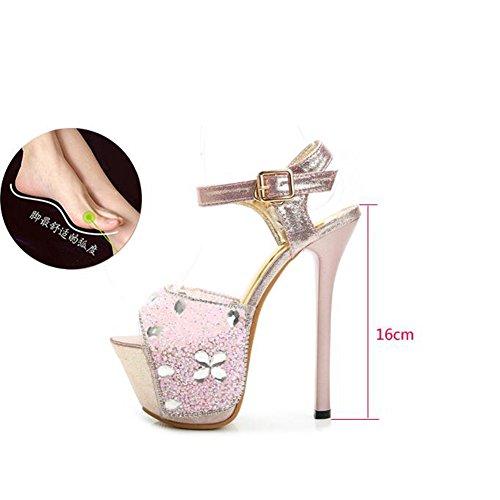 edaf11636 Zapatos de Mujer Brillo espumoso PU Verano Otoño Novedad Sandalias Confort Tacón  de