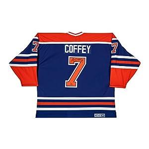 PAUL COFFEY Autographed & Inscribed Edmonton Oilers Authentic Blue Jersey UDA