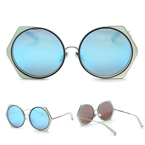 Sunglasses Frame De Sol Hombres 2 Summer 4 Metla Redondas De Moda Poligonales WANGKEAI Gafas De Blue Sol Cool Gafas vwZxPn0pqR