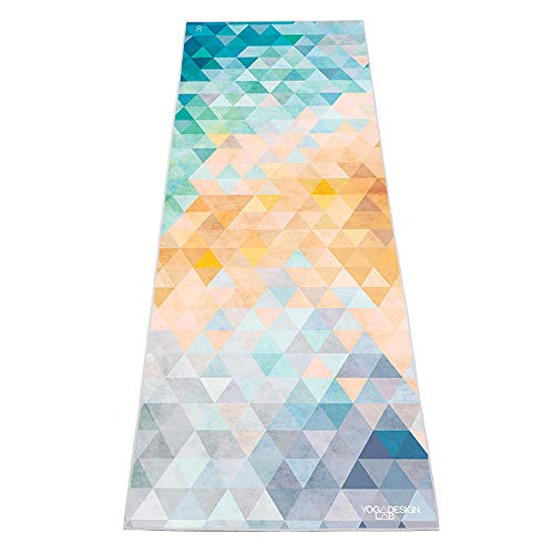 YOGA DESIGN LAB The HOT Yoga Towel | Luxury Non Slip Quick Dry Eco Printed Towel | Designed in Bali | Ideal for Hot Yoga, Bikram, Exercise, Sports, or Travel | Mat Sized (Tribeca Flow) (Travel Bamboo Towel)