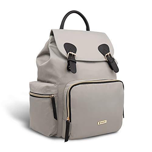 Vogshow Waterproof Diaper Bag, Multifunction Stylish Travel Backpack Maternity Nappy Bag for Baby Care, Large Capacity and Durable (Gray) ()