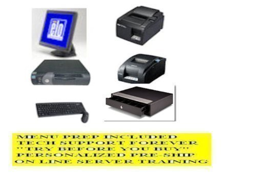 1 Station Terminal Restaurant point of sale POS System w/ FREE Menu Install, 3 Year Warranty and Lifetime Tech Support --- No Extra or Monthly Charges (Pos System For Restaurant And Bar compare prices)