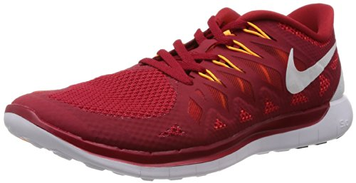 911bfcaf0b Galleon - Nike Men s Free 5.0 Gym Red White Lt Crimson Kmqt Running Shoe  9.5 Men US
