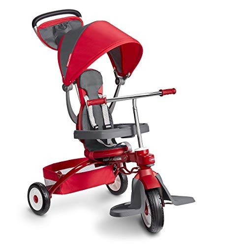 Radio Flyer Deluxe EZ Fold 4-in-1 Stroll 'N Trike (Renewed)