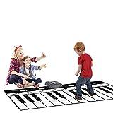 Bescita Dancing Mats Keyboard Musical Playing Music Singing Gym Carpet Mat Best Kids Baby Gift
