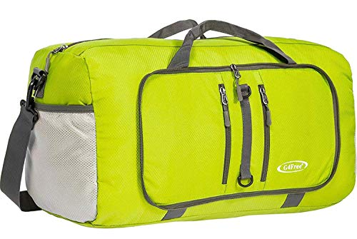 G4Free Foldable Travel Duffle Bag Lightweight 22 Inch for Luggage, Sports, Gym(Green)