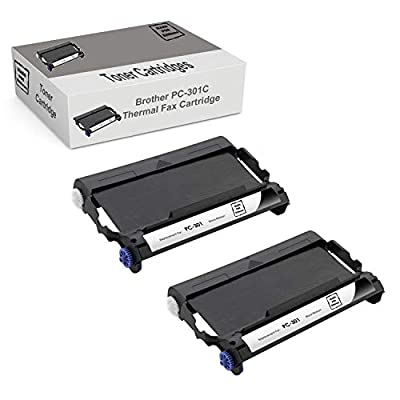 MARS POS Ribbons Compatible for Brother PC-301C Thermal Fax Cartridge 2 Pack Replacement Fax 885MC Intellifax 750 770 775 870MC 885MC MFC970MC