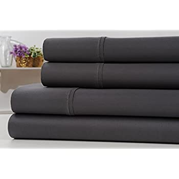 kathy ireland gallery thread count egyptian quality cotton rich 4 piece sheet set 6 colors high thread count luxury hotel quality wrinkle free bed