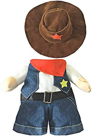 NACOCO Cowboy Dog Costume with Hat Dog Clothes Halloween Costumes for Cat and Small Dog 22
