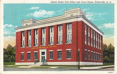 E3949 NC, Statesville Post Office/Court House Postcard at