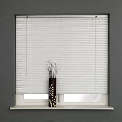 Aluminium 25mm slat metal venetian blind silver widths 40 to 140 cm window blind
