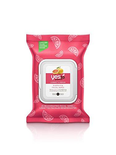 Yes To Grapefruit Correct & Repair Rejuvenating Facial Wipes, 30 Count