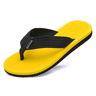 Sandalias de verano zapatos de hombre casual estilo tejido exterior / Playa Verano Flip-Flops negro / marrón / amarillo / verde Negro
