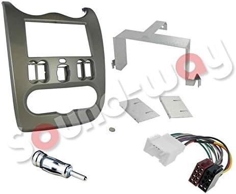 sound-way Kit Montage autoradio Adaptateur 2 DIN avec pour Ford Mondeo