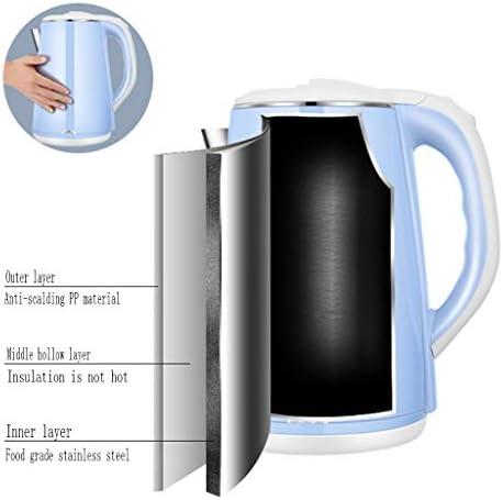 Tasse ZYLIANG Bouilloire Électrique Grande Capacité des Ménages 2.2L en Acier Inoxydable Teapot Mise Hors Tension Automatique Anti-échaudage Anti-Sec