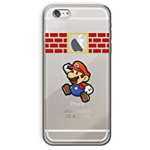 """iPhone 6/6s (4.7"""") Cartoon Silicone Phone Case / Gel Cover for Apple iPhone 6S 6 (4.7"""") / Screen Protector & Cloth / iCHOOSE / Super Paper Mario"""