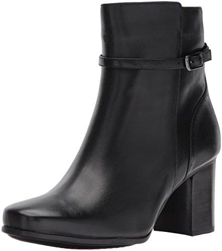 Clarks Women's Kensett Diana Ankle Bootie, Black Leather, 8 M US