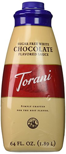 Torani Sugar Free White Chocolate Sauce, 64-Ounce (Sugar Free White Chocolate Syrup)
