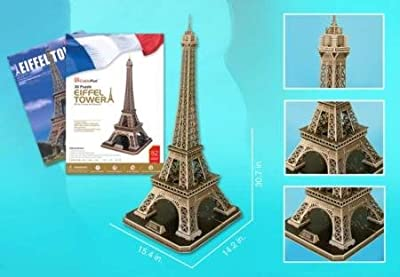 Eiffel Tower Large 3d Puzzle With Book 82 Pcs from Daron