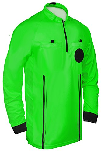 New! 2018 Soccer Referee Jersey Full Sleeve (2018 Green, Adult Medium)