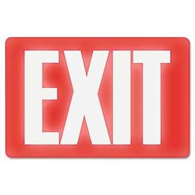 U.S. Stamp & Sign 4792 Glow In The Dark Sign, 8 x 12, Red Glow, Exit
