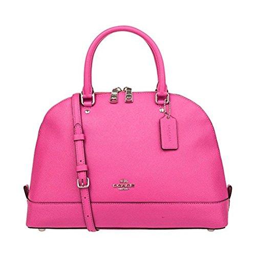 Coach Women's Leather Bag Handbag F57524 (Mei red)